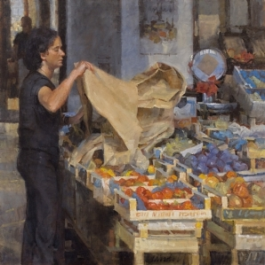FRUIT VENDOR MERCATO DEL CARMINE, LUCCA - James Crandall