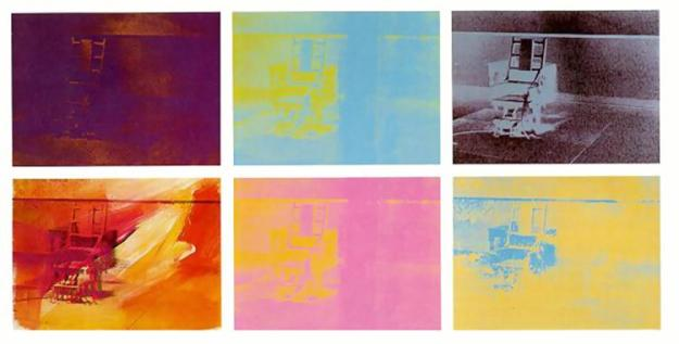 Electrictic chair - Warhol