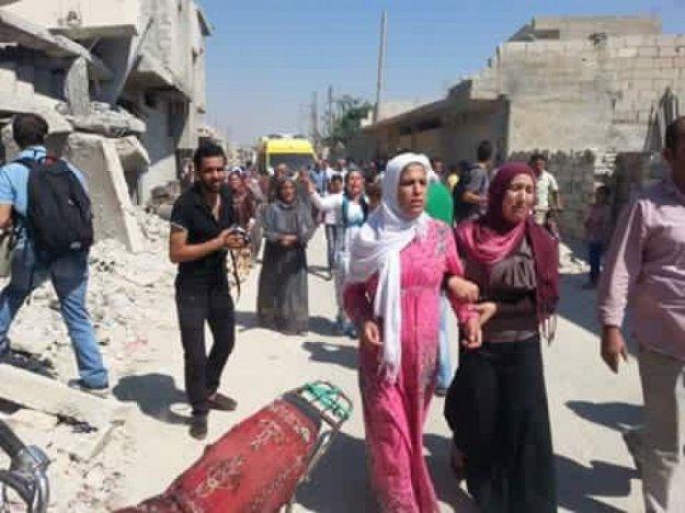 Kobane, i funerali di Aylan e Galip Kurdi e della loro madre Rehan, 5 settembre 2015