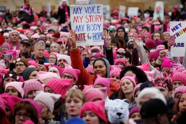 People gather for the Women's March in Washington U.S., January 21, 2017. REUTERS.Shannon Stapleton